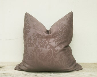"""Luxurious pillow cover, pillow cover, Dark brown pillow cover 20"""" x 20"""""""