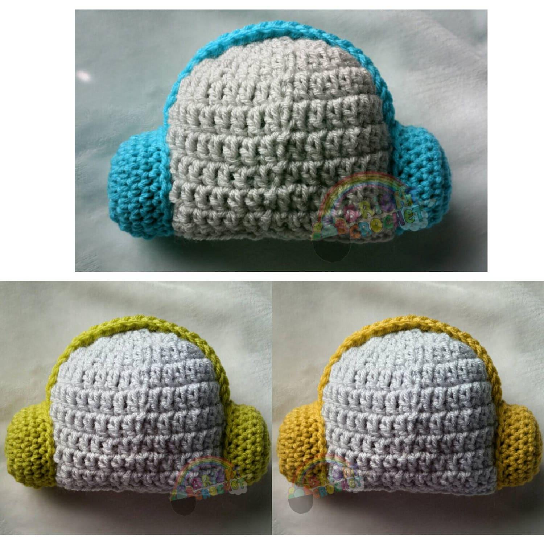 SALE Baby Crochet DJ Headphones Music Beanie Hat