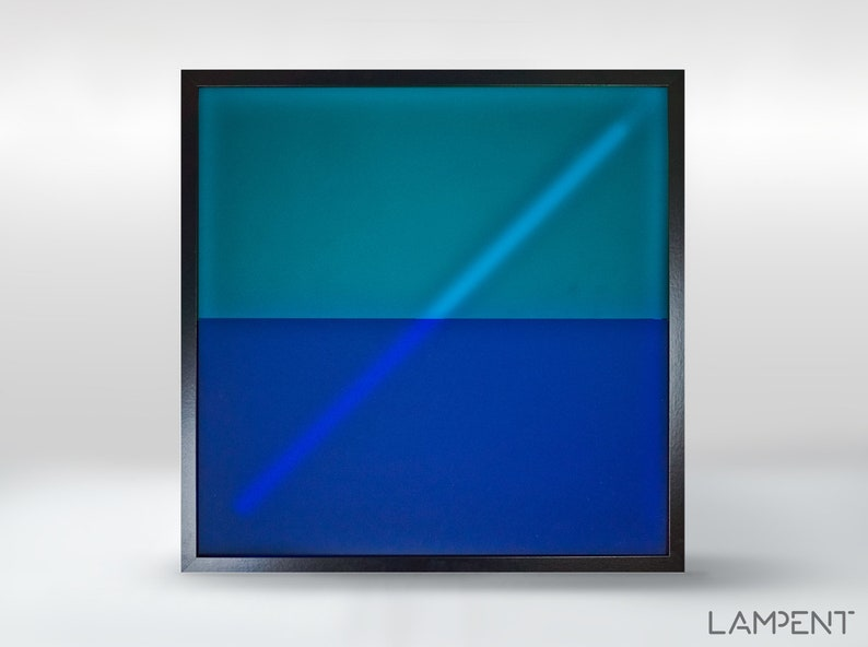Geometric abstract light art - wall lamp - LED Light Box - Frosted  Plexiglass luminaire