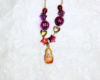 Russian Doll Necklace / Matryoshka Necklace / 2 Styles / List for 1 / Babushka Necklace / women's jewelry /  jewelry /Russia / women