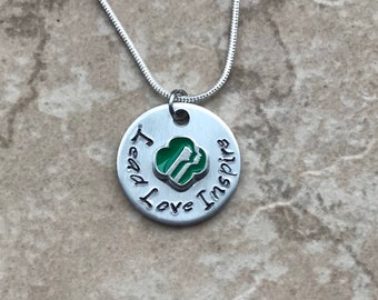 Junior Senior troop MOM Daisy Cadet Brownie or Ambassador ranks. Perfect for leader Girl Scout Inspired Necklace