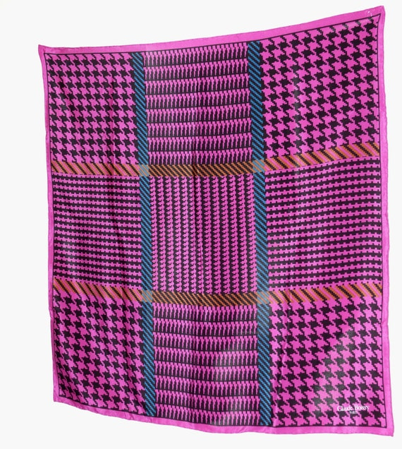 Claude Boissy of Paris Colorful Geometric Silk Sca