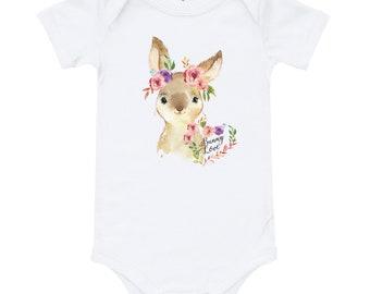 Baby bunny tee shirt, Bunny boho tee, bunny one piece, baby bunny bodysuit, Easter tee shirt, bunny tee shirt, some bunny is one tee