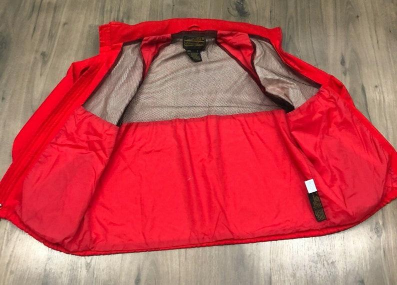 Vintage Eddie Bauer Gore-tex Jacket Red Vented Hood Mens Large