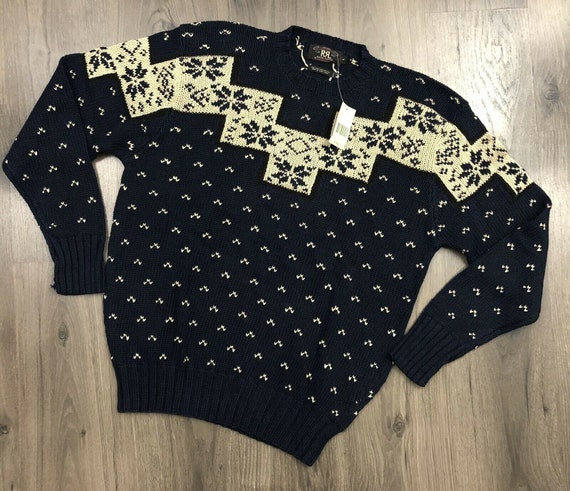 NWT Vintage RRL Ralph Lauren Fair Isle Sweater Lar