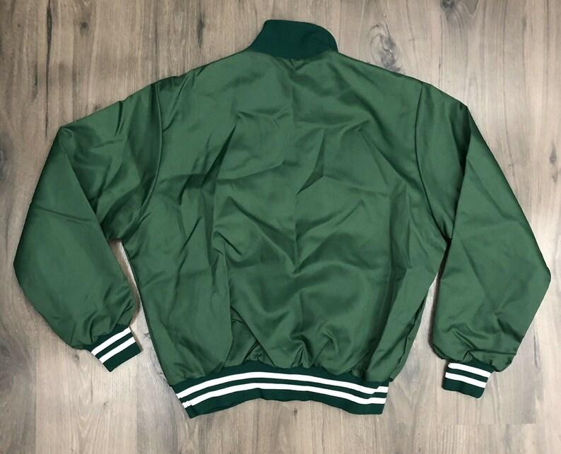 Vintage Rennoc Pullover Satin Jacket Large Green