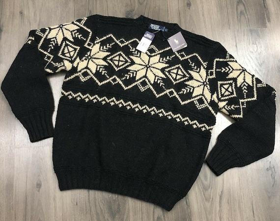 NWT Vintage Polo Ralph Lauren Fair Isle Sweater