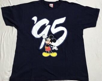 Vintage '95 Mickey Mouse T Shirt XL VTG 1995 Walt Disney World