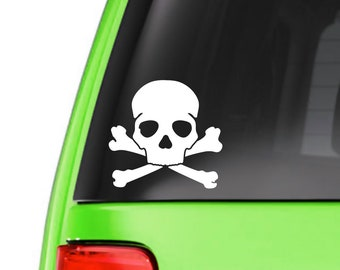 Skull and crossbones sticker, decal, your choice of color