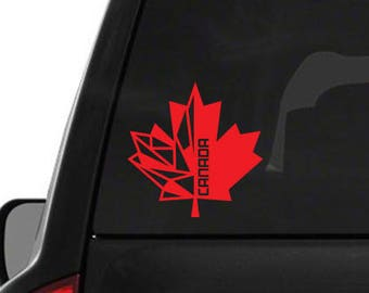 Canada maple leaf sticker, decal, your choice of color