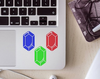 Small gem, rupee sticker/decal pack, your choice of color