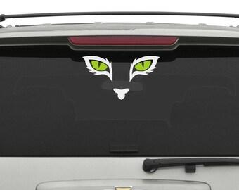 Cat eyes vinyl decal, sticker