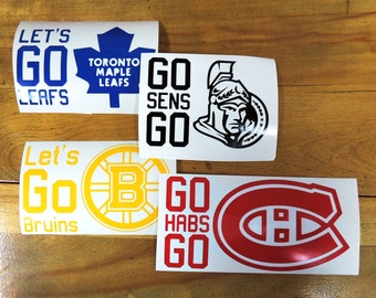 Hockey team cheer sticker decal