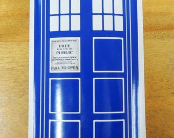 Doctor Who Tardis weatherproof vinyl decal, sticker