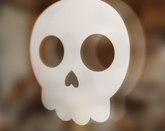 Cute skull sticker, decal, your choice of color