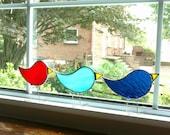 Stained Glass Bird Suncatcher, Standing Glass Bird, Blue Bird, Partridge, Bird Art, Bird Lover Gift, Red Bird, Easter Chick, Custom Colors