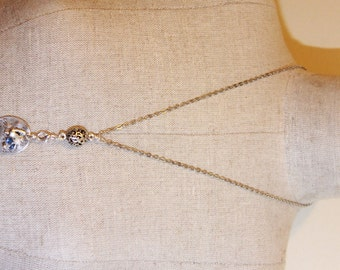 """Shell In Your Pocket Sand In Your Toes Necklace - With Silver 24"""" Chain - Three Charms"""