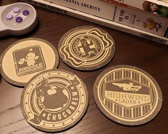 Final Fantasy Themed Coasters - Set of 4