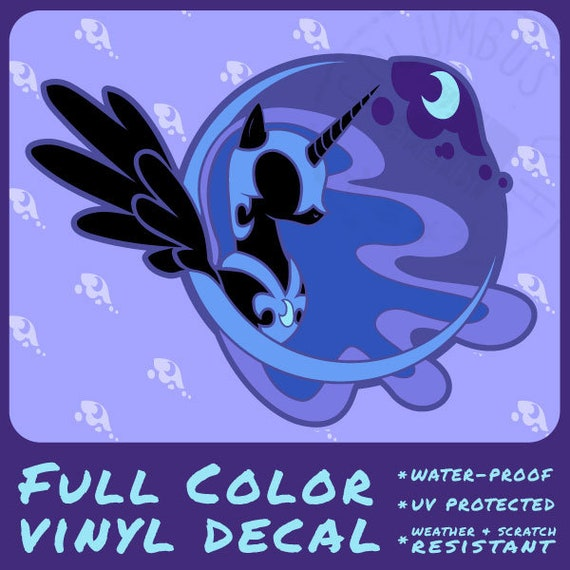 nightmare moon full color vinyl decal etsy