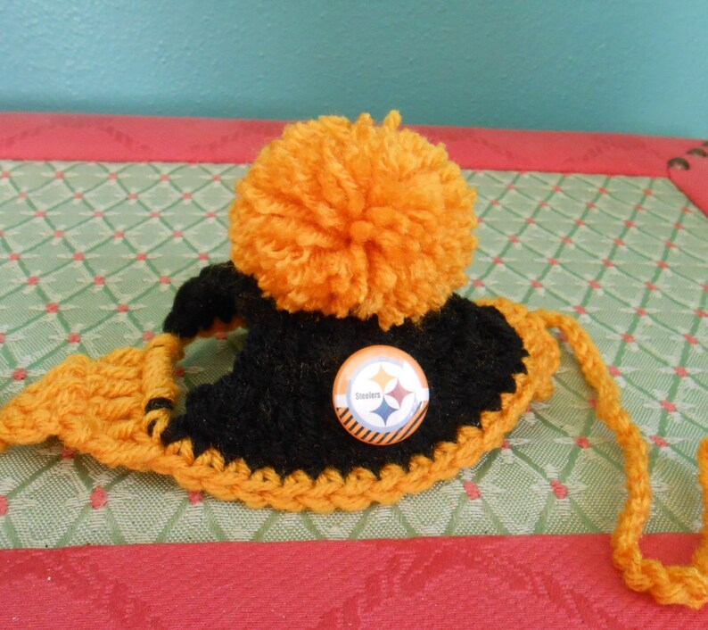1a18a8ce6cc Pittsburgh Steelers Dog Hats or Cat Hats Crocheted with   Etsy