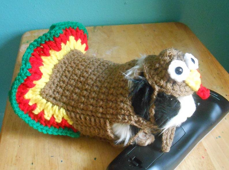 f7f60fb33b Acción de gracias cuy suéter traje de Turquía de ganchillo