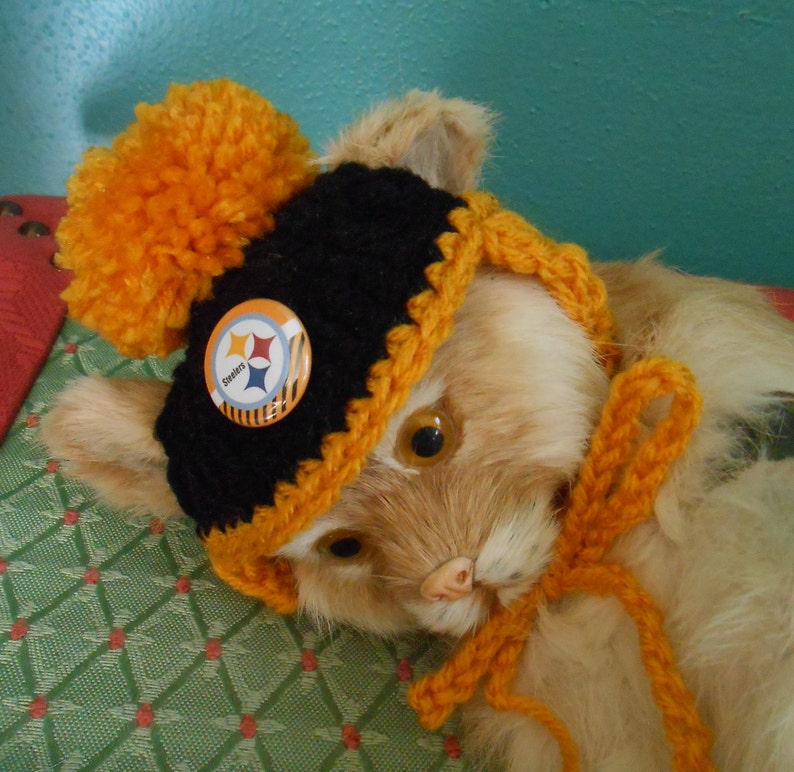 5e9a8694b Pittsburgh Steelers Dog Hats or Cat Hats Crocheted with