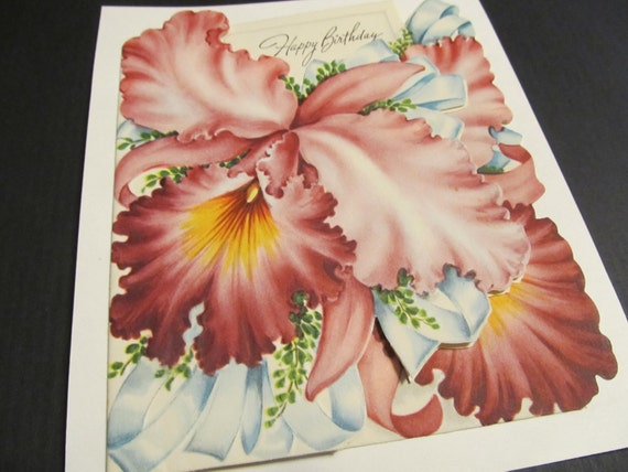 Happy birthday floral flowers bday greeting card save a etsy image 0 m4hsunfo