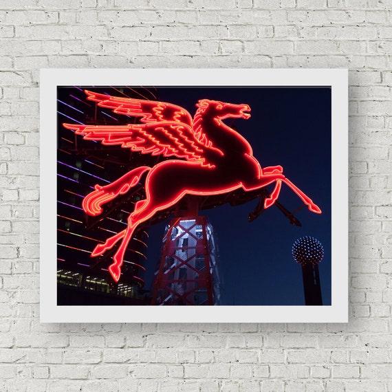 Dallas Wall Art Dallas Photography Dallas Pegasus Mobil | Etsy
