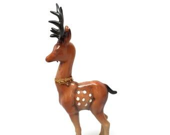 Vintage Reindeer,Stylized, Retro, Kitsch, Hard Plastic, c1960's