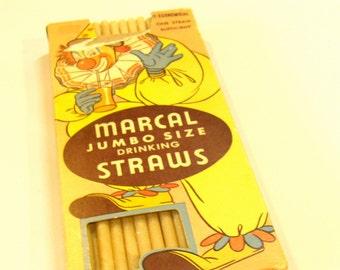 Straws, Ephemera, Circus Clown, Vintage Advertising, c1954