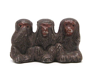 See No Evil Hear No Evil Monkeys Japan c1950