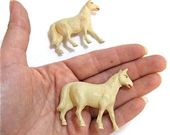 Vintage Celluloid Horses Toy Putz c1930