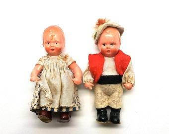 Edi Puppen Dutch German Dolls Boy and Girl 1950