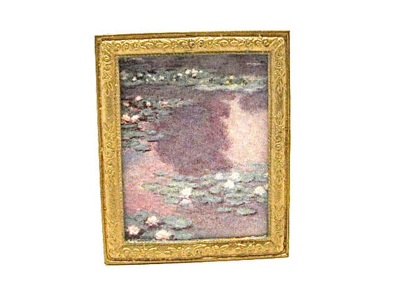 FAST DELIVERY Monet/'s WATER LILIES Miniature Dollhouse Picture MADE IN AMERICA