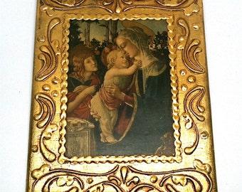 Florentia Framed Religious Icons Madonna Child Italy