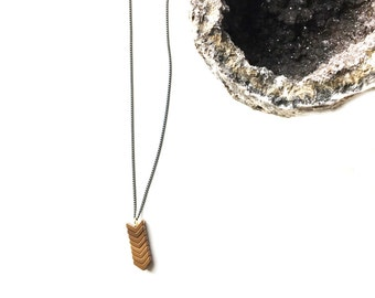 Hematite 'V' Arrow Necklace