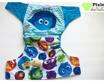 Inside out, Sadness One Size Pocket Diaper, Cloth Diaper (Photoshoot)