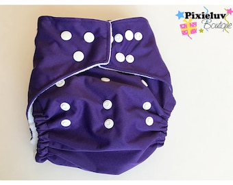 Purple One Size Pocket Diaper (Cloth Diaper)