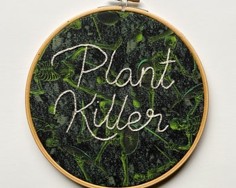 Plant Lady, Plant Killer, Plant Mom, Plant Life, Smash the Patriarchy, Nasty Woman, Feminist embroidery, welcome sign, home decor, Cacti