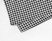 "Men's Pocketsquare . Black and White Houndstooth . 10x10"" Pocket Square"