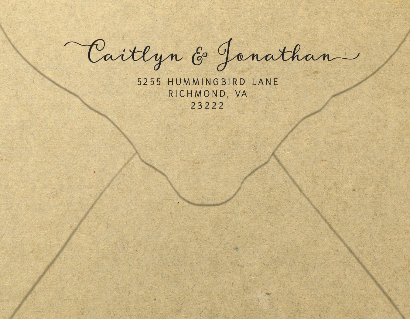 This is a photo of Crafty Printable Envelope Address Template