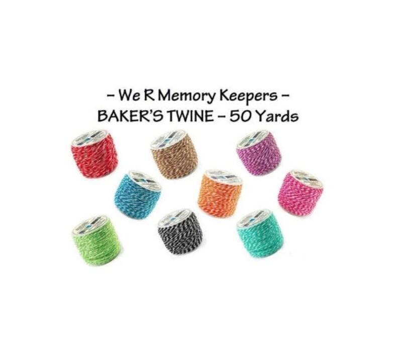 BAKER/'S TWINE We R Memory Keepers 50 Yards 45 Meters Green Brand New