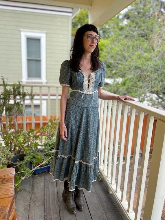 Vintage 1970s Gunne Sax Prairie Dress - image 1