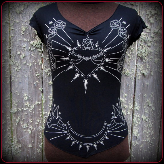 Goddess Virgin Mary Occult Tattoo Shirt Immaculate Heart Etsy