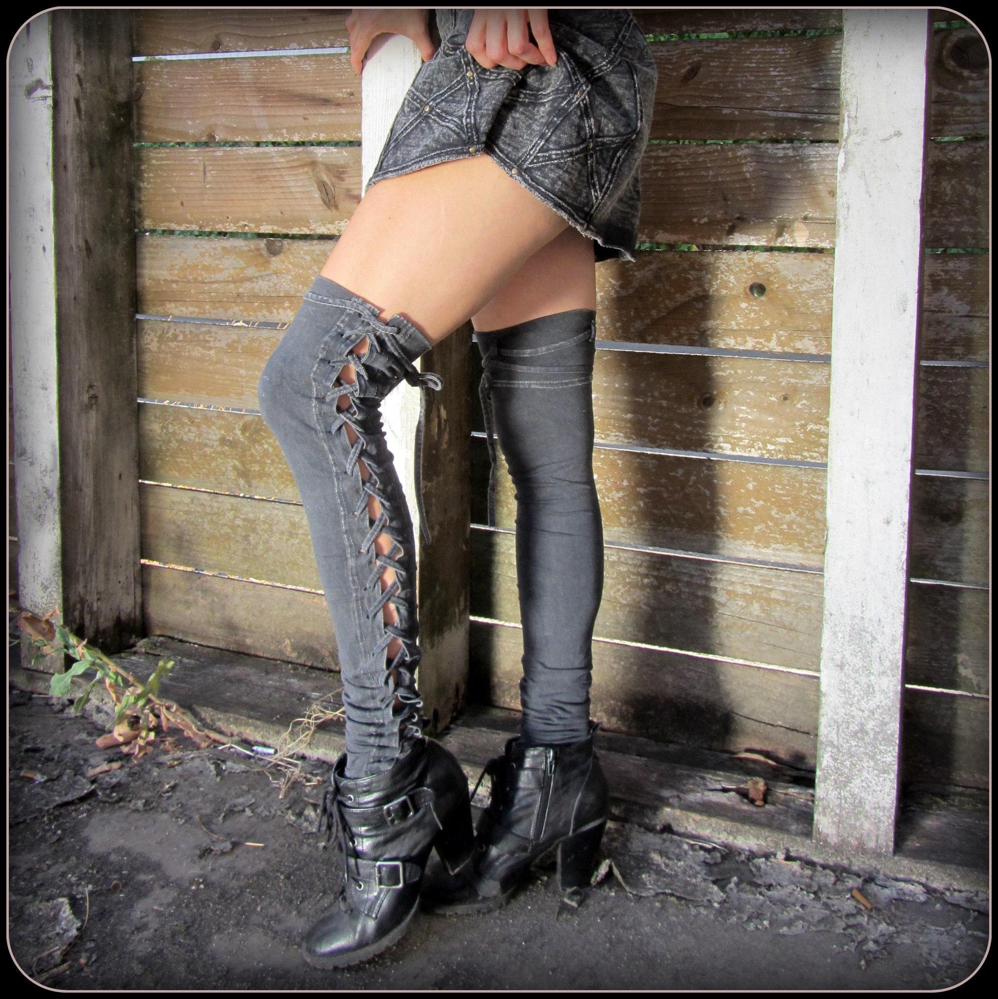 9c76eee8e202d Leg Warmers Steampunk leggings Viking thigh highs post | Etsy