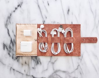 Rose Gold Cord Wrap | Cable Organizer