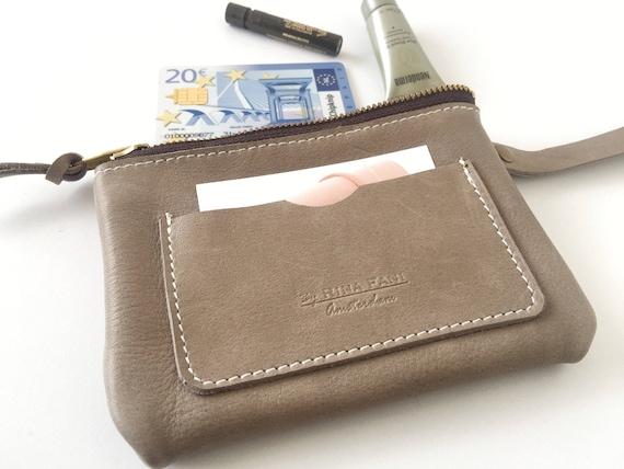 echtes ledertasche kleine tasche clutch mit rei verschluss. Black Bedroom Furniture Sets. Home Design Ideas