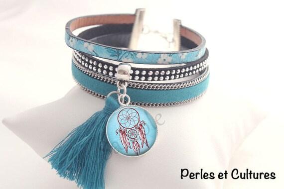 bracelet attrape r ves dreamcatcher rouge bracelet bleu etsy. Black Bedroom Furniture Sets. Home Design Ideas