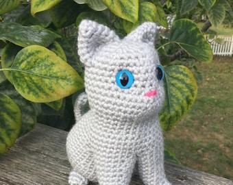 Crochet Pattern: Kitty Cat Amigurumi PDF Instant Download