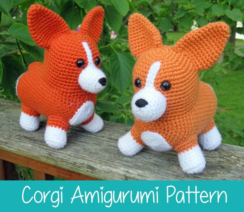 Crochet Pattern: Corgi Amigurumi Pattern PDF Instant Download